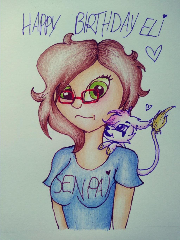 Happy birthday Eli ^.^ by Pink-Sanity