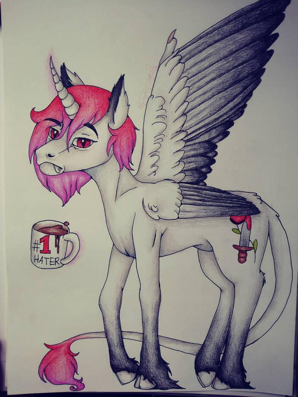   MLP OC   i hate everything by Pink-Sanity