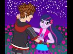 Sora and Princess Twilight Sparkle Dancing by WaveBreeze234