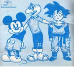 Mickey, Condorito y Goku