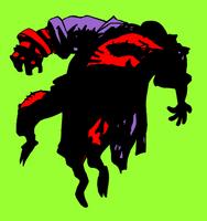 Hellboy cayendo by Bufoland