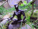 Spiderman Negro meditando by Bufoland