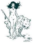 Frazetta Cave Woman