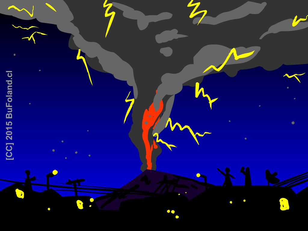 Erupcion del Volcan Calbuco 22 de abril de 2015 by Bufoland