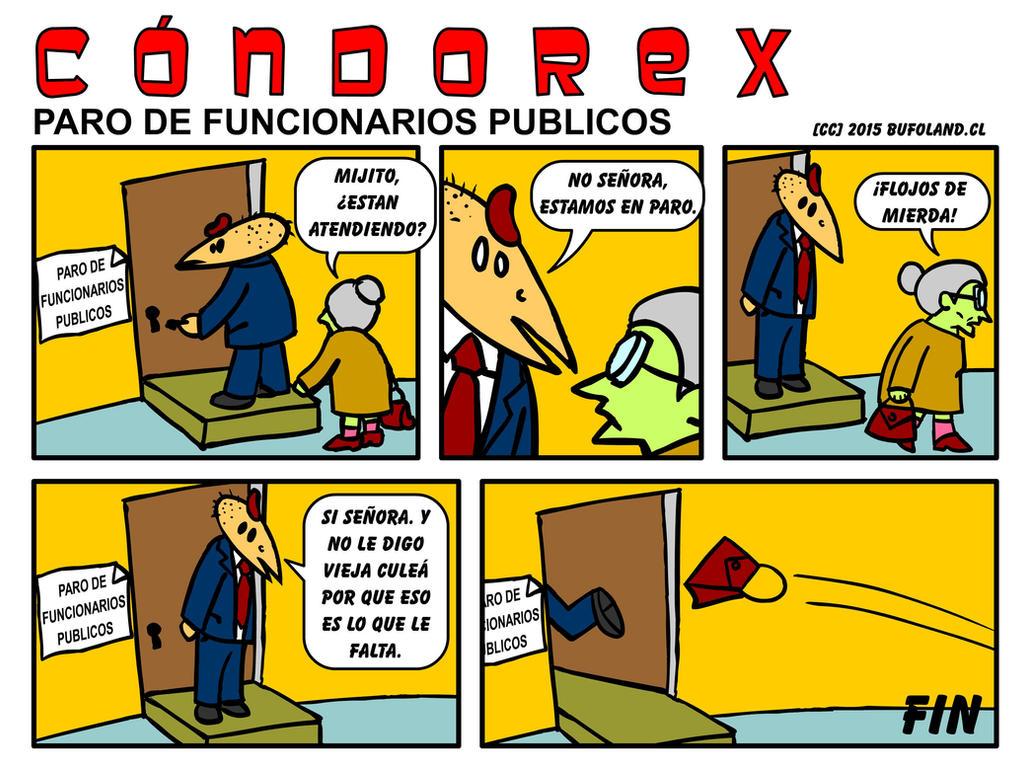 Condorex, Paro de Funcionarios Publicos
