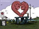 Escultura Imaginaria de Enamorados Puerto Montt