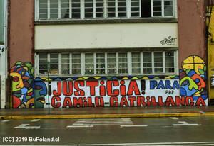 Mural alusivo a Camilo Catrillanca
