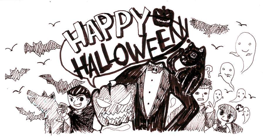 #inktober: Happy Halloween! by alivegurl