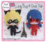 Miraculous Lady Bug and Chat Noir -  PDF pattern