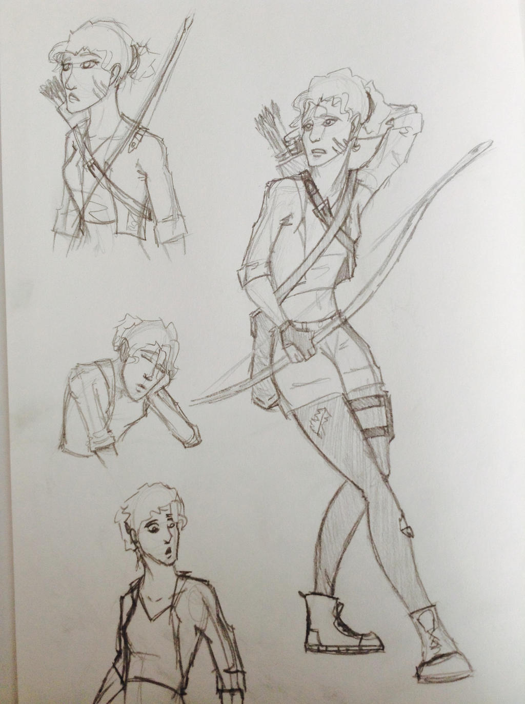 Kayanii Sketches (Zombie AU) by RainSong777
