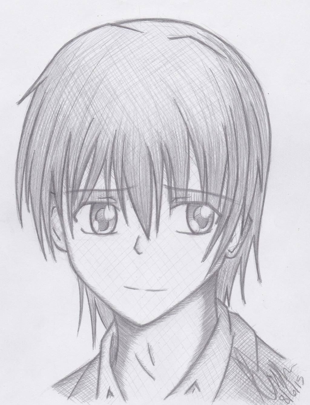 Yuzuru Otonashi Sketch  (Angel Beats) by EddyWriter on