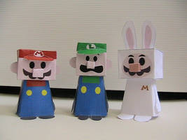 Mario, Bunny Mario, and Luigi by may7733