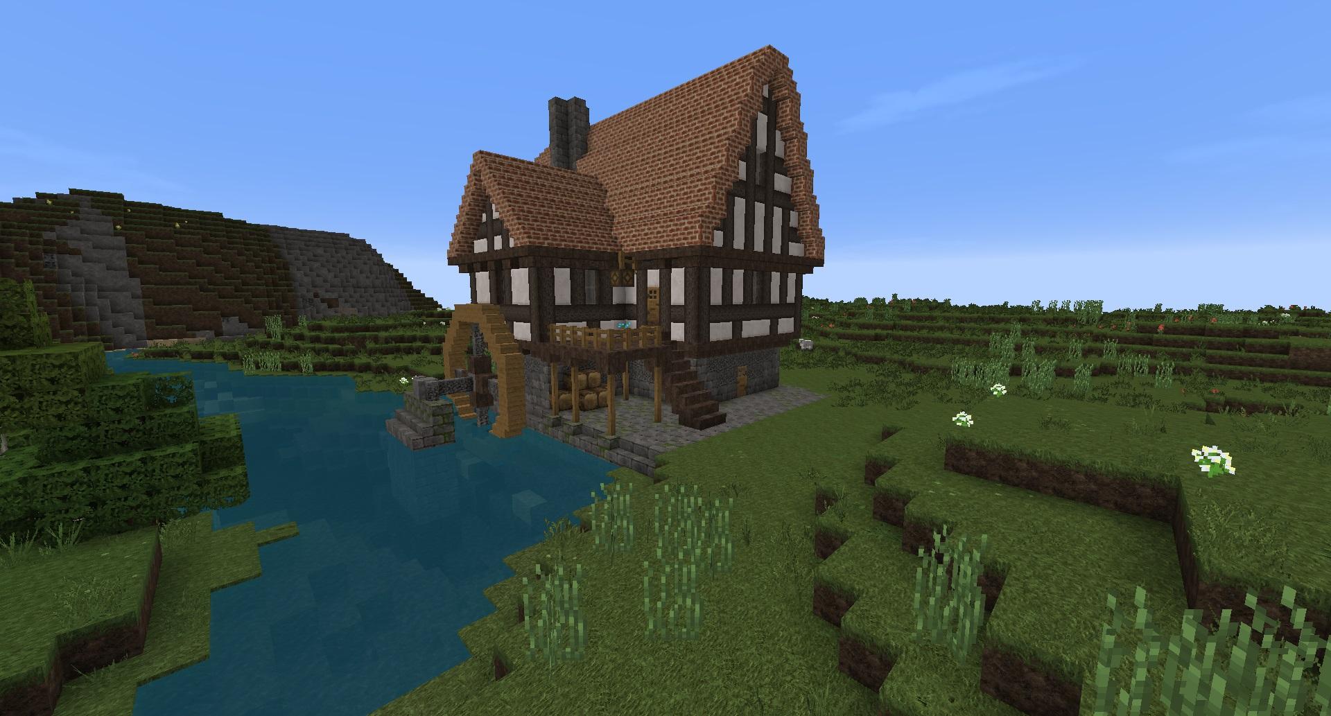 Minecraft Watermill by schattenw0lf on DeviantArt