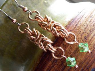 Bronze Byzantine Earrings by Moppy