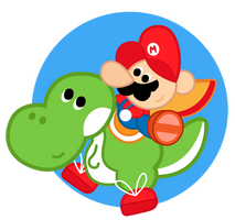 Mario and Yoshi by TheRuud
