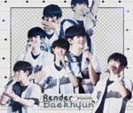 [ PACK RENDER ] 12 RENDERS BAEKHYUN - EXO(updated)