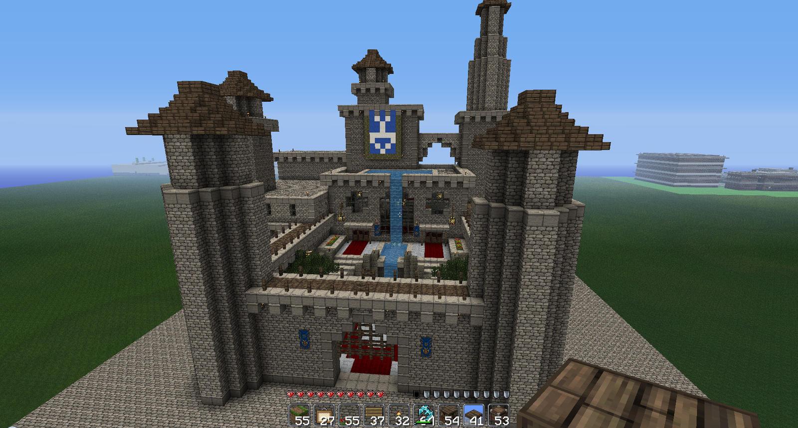 Minecraft Medieval Castle by oddworld90