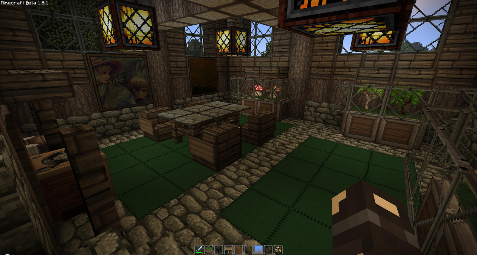 Farm house interior by oddworld90 on deviantart for Interior designs minecraft