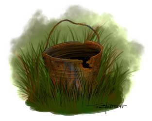 Junkyard - old bucket by sofiaiervolino