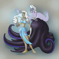 Kida and Ursula by sofiaiervolino