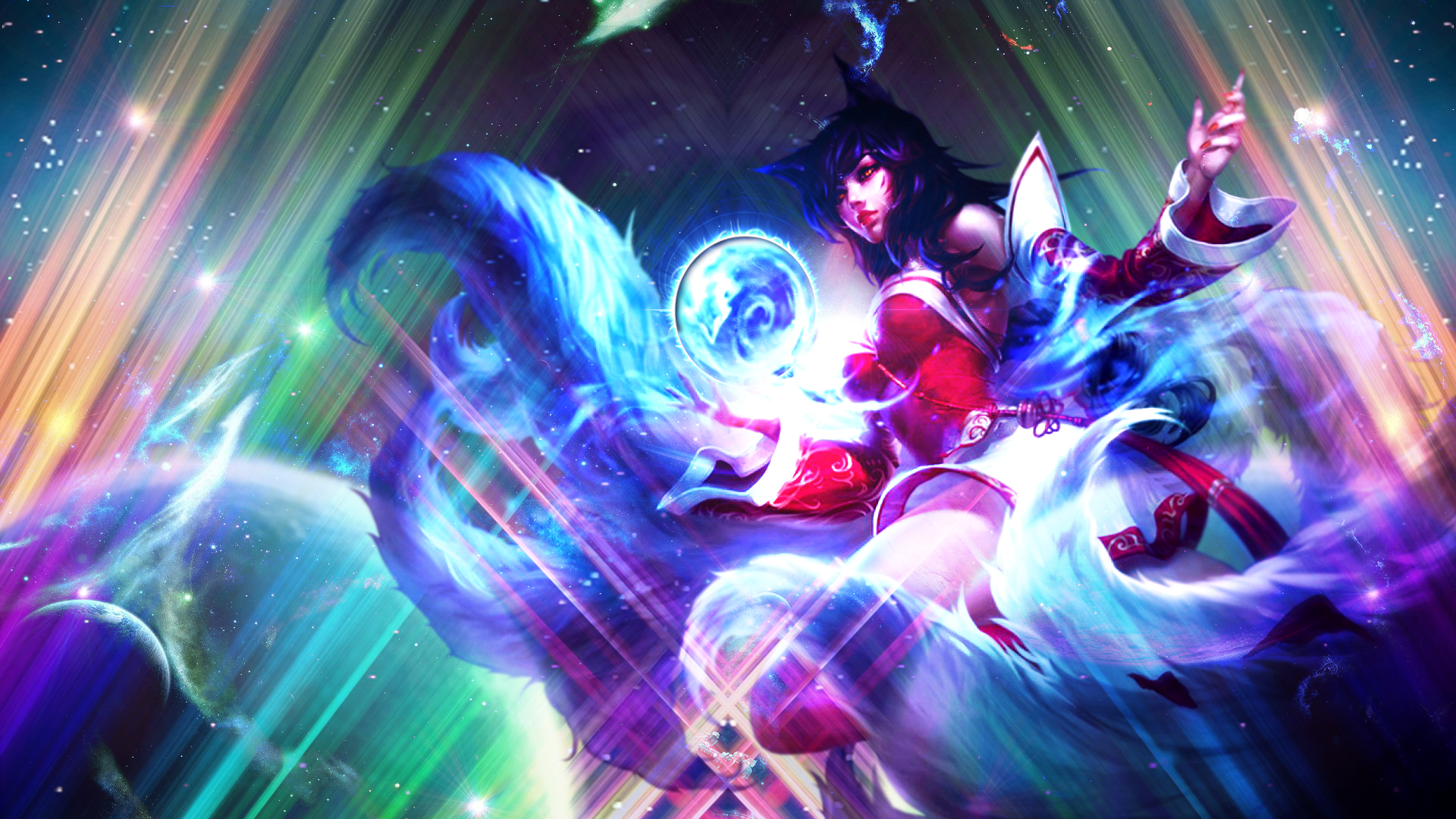 League Of Legends Ahri Wallpaper By Nestroix On Deviantart