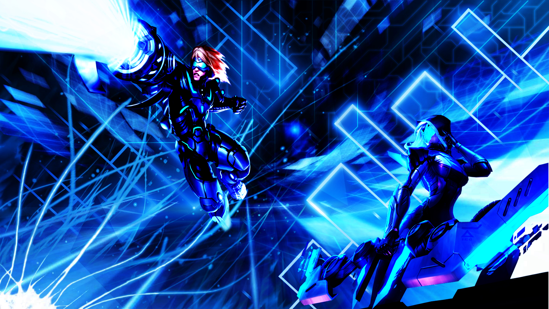 Lol Project Ashe And Pulsefire Ezreal Wallpaper By Nestroix