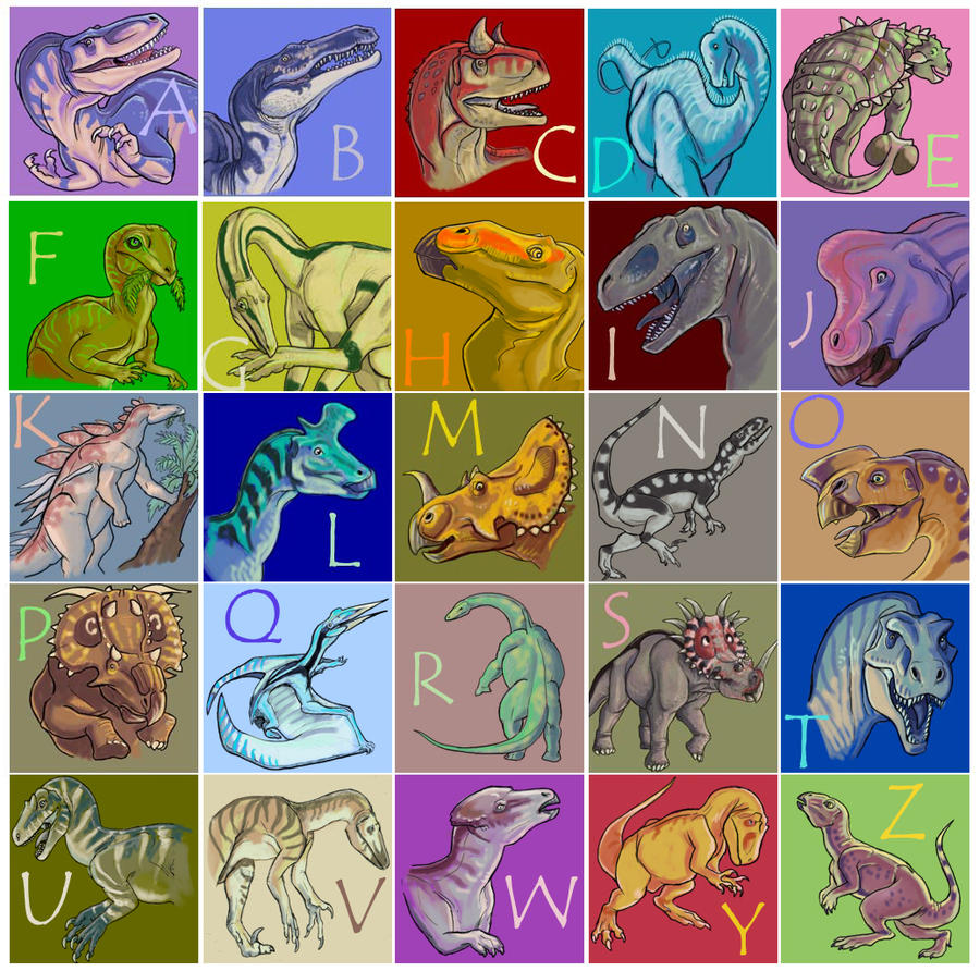 Image result for alphabet dinosaurs