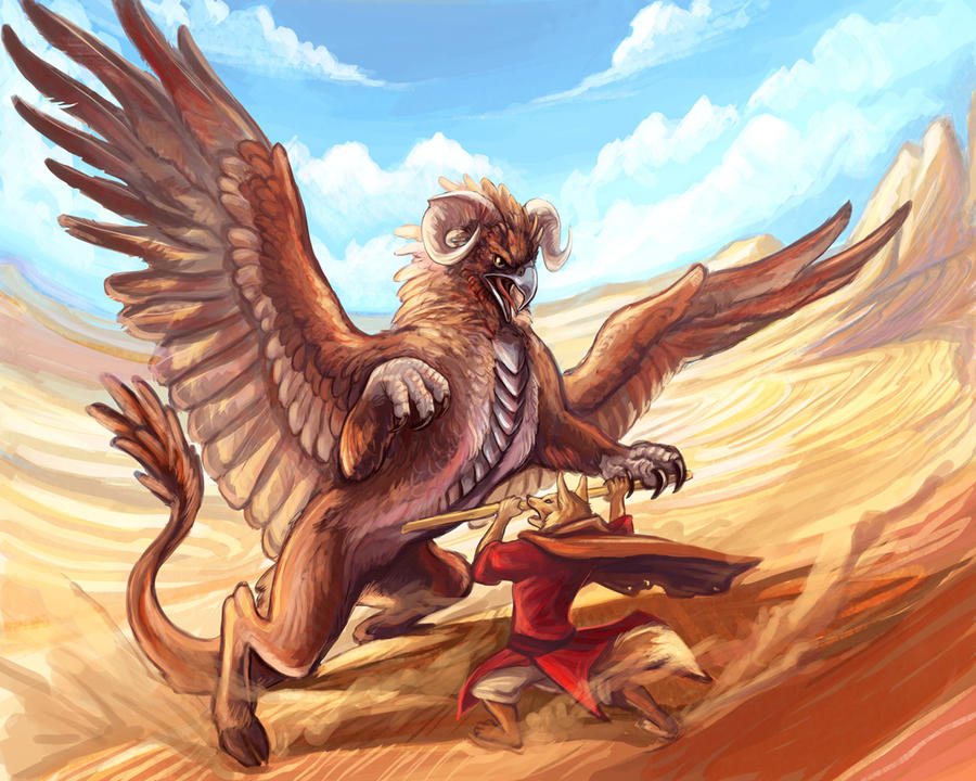 Desert Hippogriff by saeto15