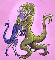 Dak and Aldrea by saeto15