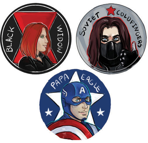 Marvel buttons 2 by saeto15