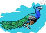 Peacock raptor