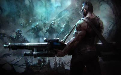 evil robo-zombies must die by Rahmatozz