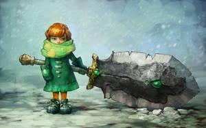 Snow girl by Rahmatozz