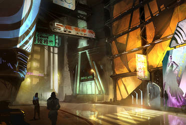 Deus Ex fan art by Rahmatozz