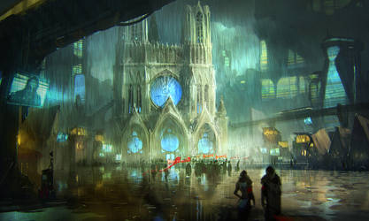 cathedral sketch by Rahmatozz