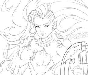 Gwendiir in Progress by ScottSketcher