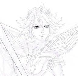 Ryuko WIP by ScottSketcher