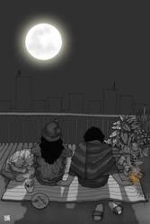 life as it is_ moon gazing