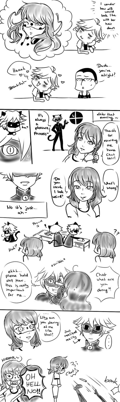 Loose hair - MLB Comic by kaminekoshi