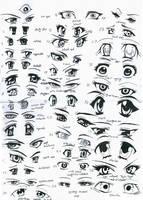 37 female anime eyes by RUN-StreetArt
