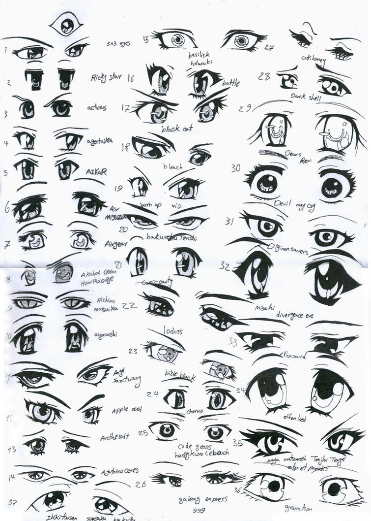 37 female anime eyes by eliantART
