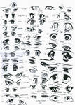 37 female anime eyes