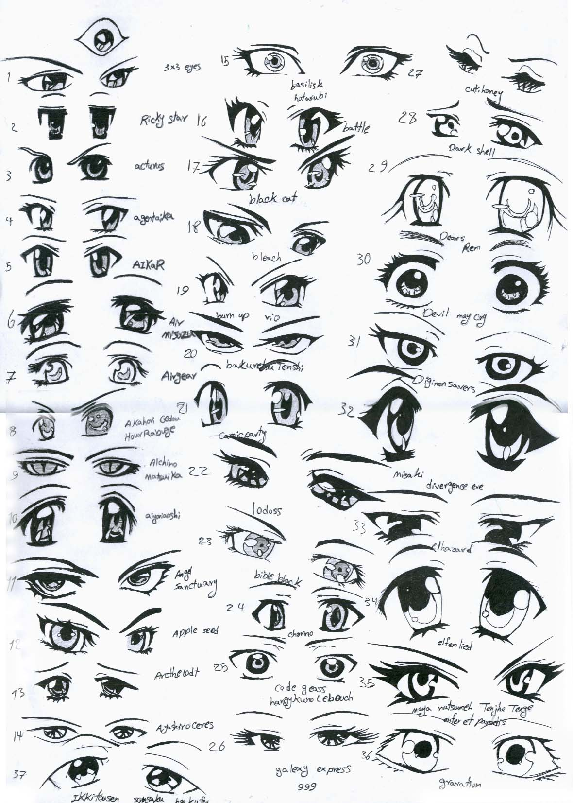 Anime Eyes Happy Anime Eyes 3 b How to Draw