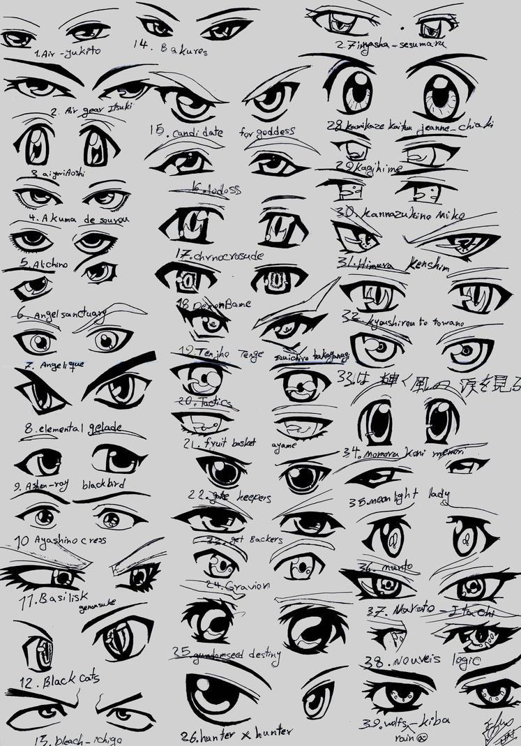 anime eyes reference male: 39 Male Anime Eyes By EliantART On DeviantArt