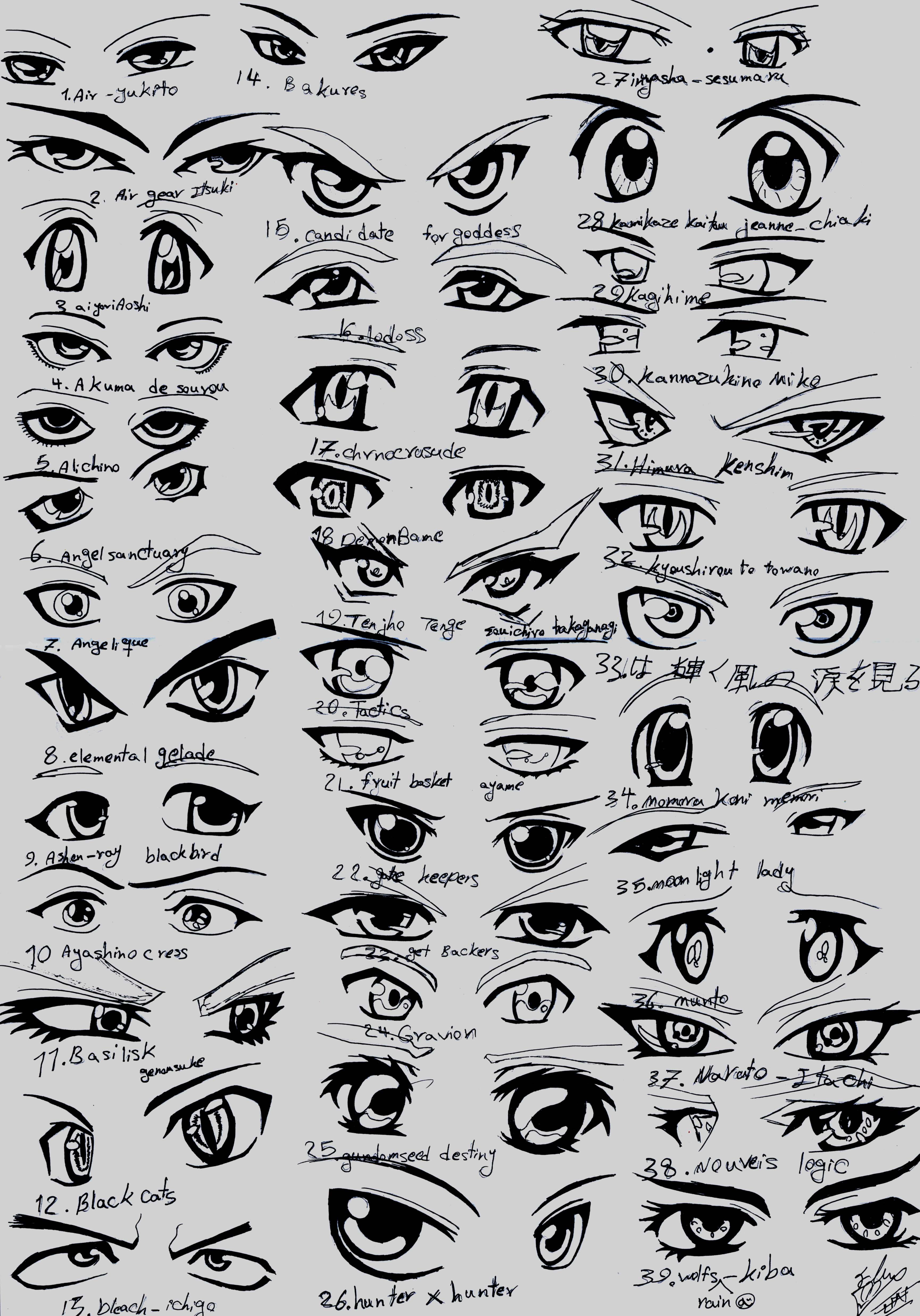 how to draw happy anime eyes