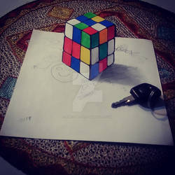 3d drawing cube