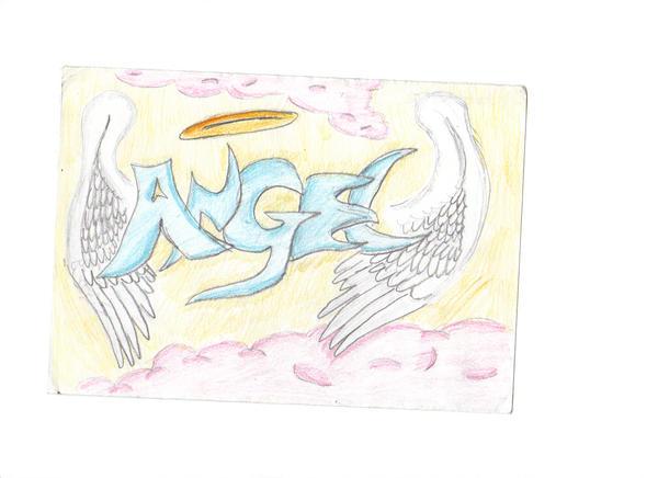 Angel graffiti by aqau,the,hedgehog