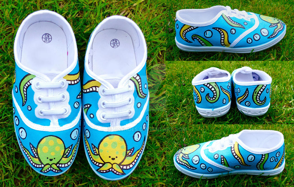 Hand-Painted Octopus Shoes by Tashoes