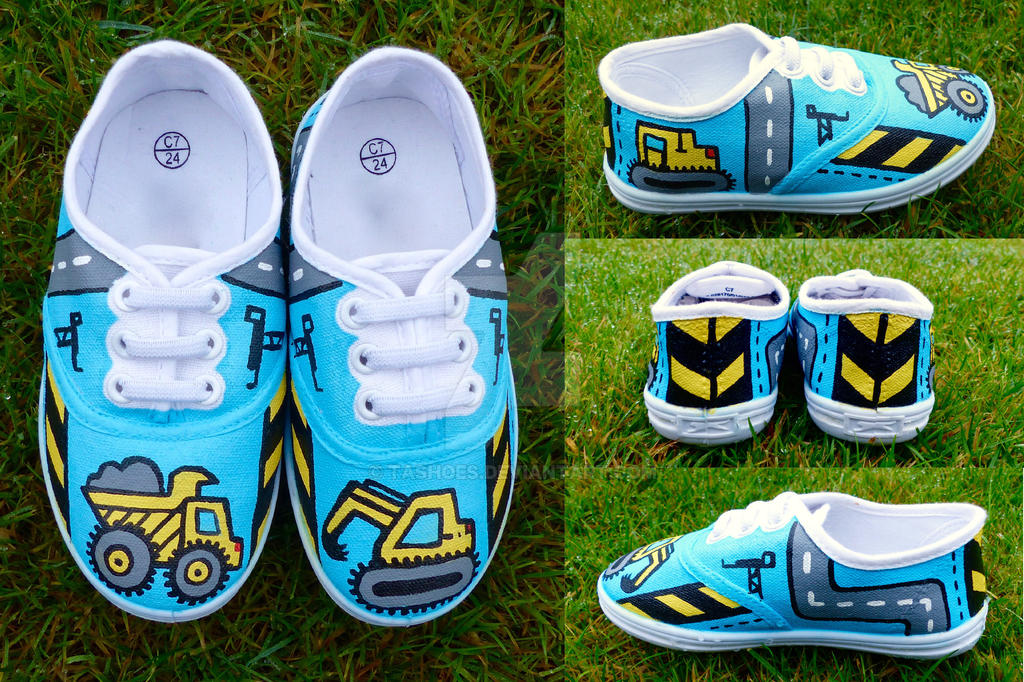 Hand-Painted Digger Shoes by Tashoes