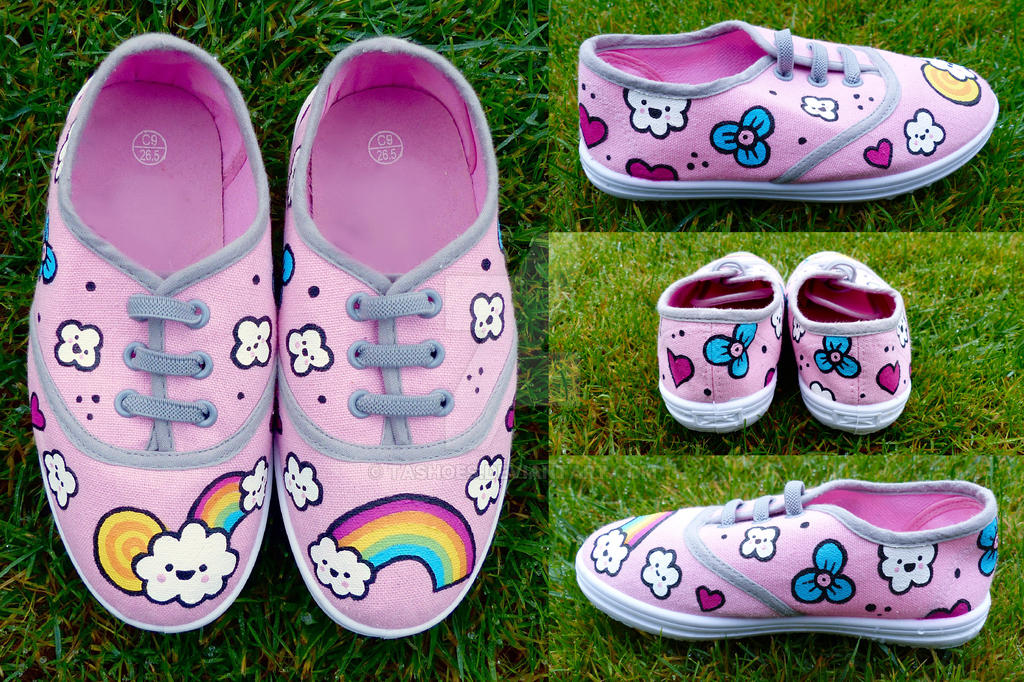 Hand-Painted Rainbow Shoes by Tashoes